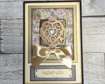 I love you handmade card