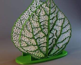 """Napkin Holder """"Leaf"""" 3D Printed"""