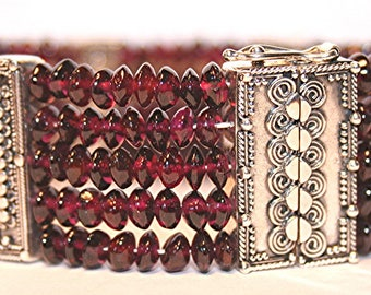 Ruby & Bali Sterling Silver bracelet