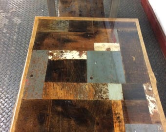 Reclaimed Old Wood End Tables