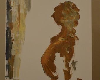 mirror - oil on canvas