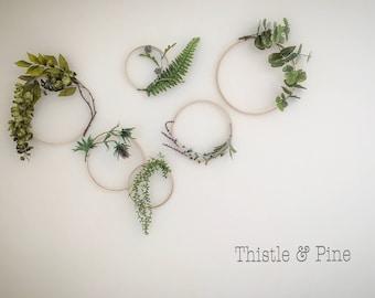 Minimalist Floral Wreath Set