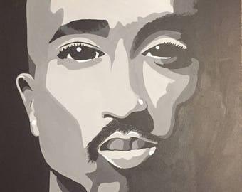 Tupac Painting Etsy