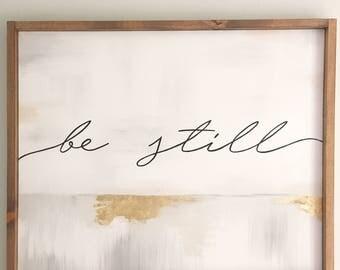 Be Still Abstract Wall Art
