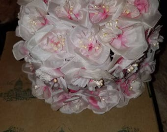 Vintage pink flower hats purchased from Pfeifers of AR