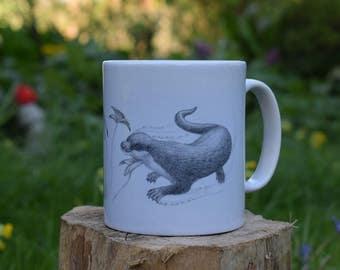 Otter & Fish Mug