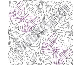 Butterfly Quilt Block - Machine Embroidery Design