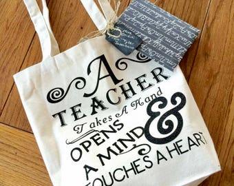Teacher Appreciation Bag Teacher Gift A Teacher Opens Minds