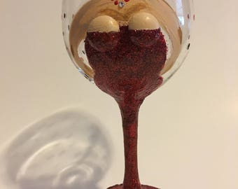 Boobie Girl Wineglass