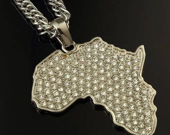 Africa Map Pendant & Necklace