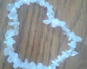 Rose quartz and moonstone bracelet
