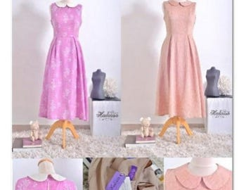 Handmade Romantic Dress Pink Casual&Purple with Flowers for Party-Daily-School Made Whit Love Great For monist Lady's Colors Available