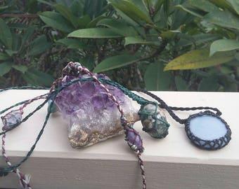 OOAK Custom Crystal Necklace Amulet holistic healing consultation Boho jewelery Art Metaphysical Vibration Raising Earth Medicine