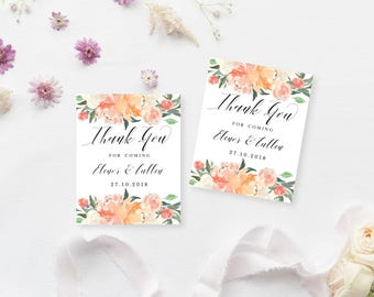 Printable Gift Tags | Customised Favour Tags | Wedding Thank You Tags | DIY Printable Gift Tags | Enchanted