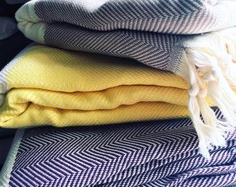 Turkish %100 cotton Blankets/Throws
