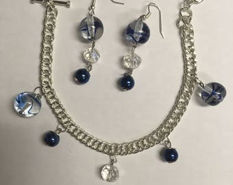 Blue Swirl Jewelry Set