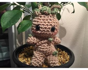 Baby Groot inspired amigurumi (Ready to Ship)
