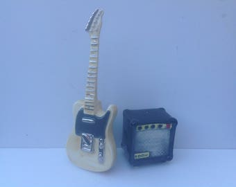 Telecaster Guitar style salt and pepper shaker set