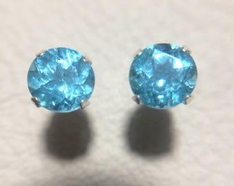 Paraiba Blue Apatite 1.99 ct tw earrings