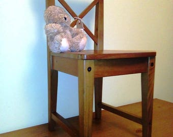 Super Vintage Solid Pine Child's Chair