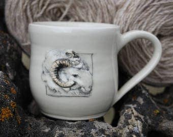Hamdmade Pottery Sheep Mug
