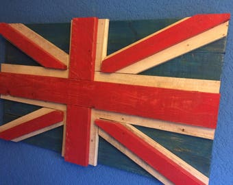 Recycled pallet wood union Jack / flag wall hanging