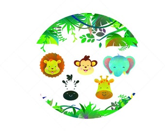 Jungle animal set