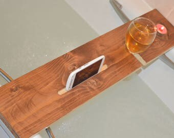 Rustic reclaimed indian rose wood bath board