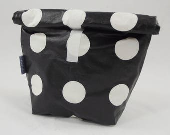 sewn wax cloth bag a bag in the Tasche-waterproof + leak-proof and therefore ideal for wet bathing suits or a breakfast
