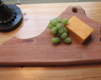 Cutting Board, Cheese Board, Hand Made, Repurposed oak, State of Virginia, Home Decor