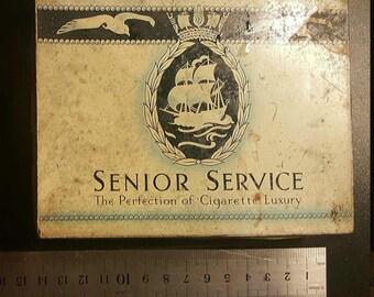 1920's / 1930's Senior Service Cigarette Tin Original Vintage RARE