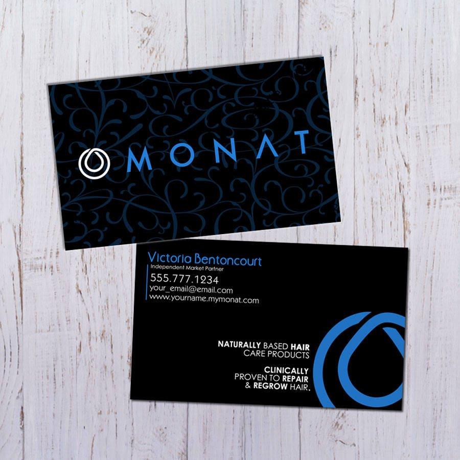 Monat business cards black and blue pattern design durable zoom magicingreecefo Images