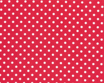Fat Quarter Tanya Whelan - Delilah - Dots Red by FreeSpirit Fabrics Cotton Quilting Fabric