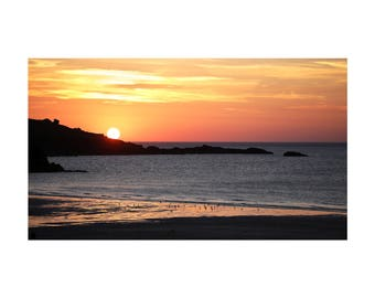 Coastal Sunset at St. Ives, Cornwall - Original Signed and Numbered Photograph C-Type Print
