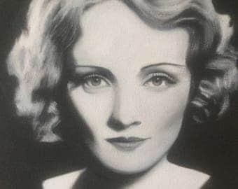 Marlene Dietrich Black and White