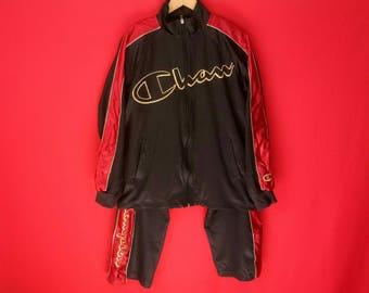 vintage champion set jacket mens