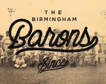 Birmingham Alabama 1871 Barons Print