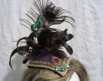 Mardi Gras Lady Jester Mini Fascinator