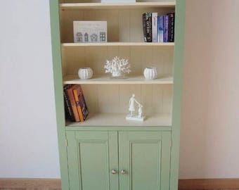 New solid pine 3ft painted Bookcase in any farrow and ball colour