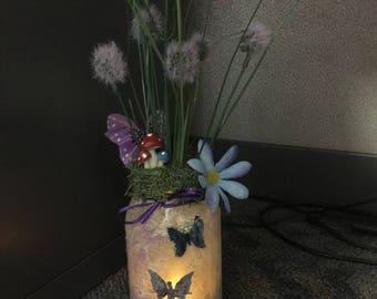 Fairy lighted jar