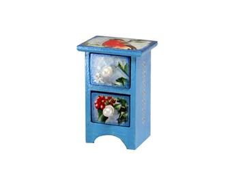 Mini chest, casket, jewelry box,  drawer, drawers A bullfinch