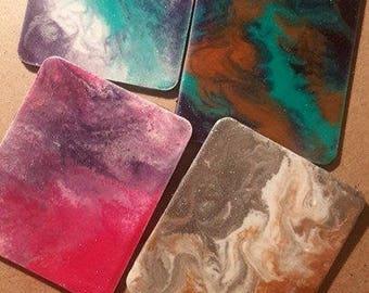 Resin Designed Handmade Coaster (4set)