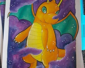 Dragonite in Space Clouds