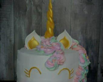Unicorn Horn & Ear Cake Topper