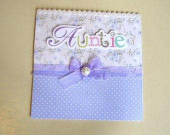 Handmade 'Auntie' Greeting Card