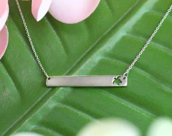 Turtle Bar Necklace