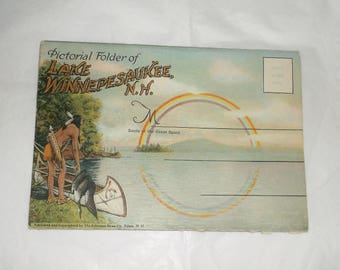 Vintage Lake Winnepesaukee New Hampshire Postcard