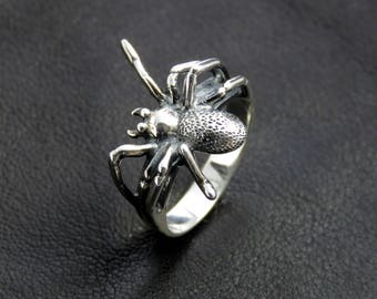 Gothic ring, silver spider ring, sterling silver ring, spider ring, animal ring, gothic silver ring, womens spider ring, spider ring women