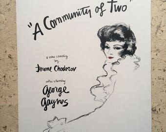 Free shipping. Claudette Colbert.  A Community of Two.