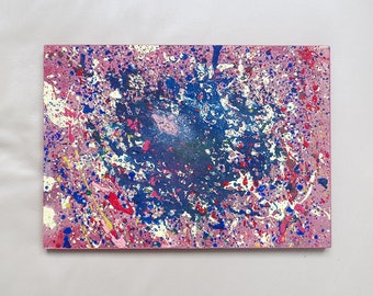 Original Art, Modern Abstract Painting, Acrylics on Wood